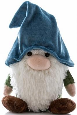 Купить Мягкая игрушка гном Aurora пластик плюш синтепон синий 25 см, синтепон, пластик, плюш, Животные