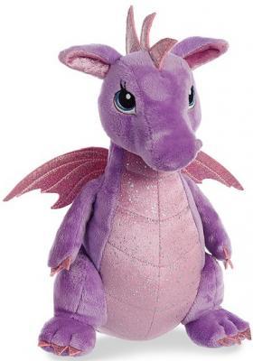 Мягкая игрушка дракон Aurora плюш синтепон текстиль фиолетовый 30 см игрушка с освещением sega homestar aurora