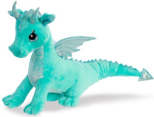 Мягкая игрушка дракон Aurora пластик синтепон плюш мятный 30 см мягкая игрушка бегемотик оранж жорик плюш синтепон серый 30 см мс1983 30