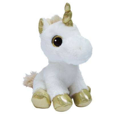 Мягкая игрушка единорог Aurora Единорог искусственный мех пластик наполнитель золотой 20 см мягкая игрушка единорог fluffy family единорог искусственный мех пластмасса наполнитель розовый 80 см