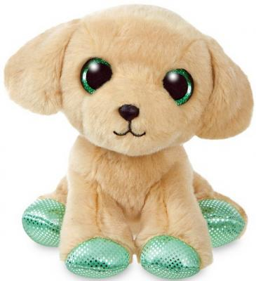 Мягкая игрушка Лабрадор Aurora пластик текстиль наполнитель плюш бежевый 18 см