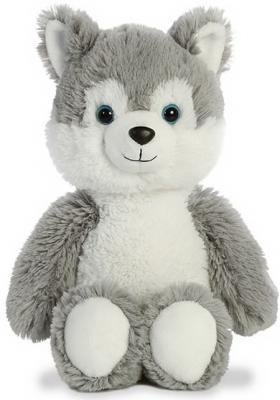 Мягкая игрушка хаски Aurora Cuddly Friends текстиль пластик плюш белый серый 30 см игрушка с освещением sega homestar aurora