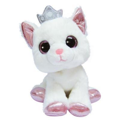 Мягкая игрушка Кошечка Aurora Кошечка искусственный мех белый 25 см цена
