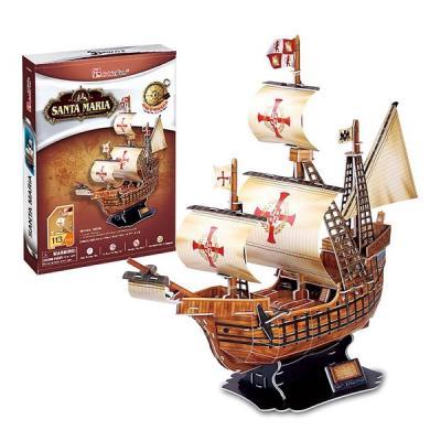 Корабль Cubicfun Корабль Санта Мария коричневый 113 шт сборная модель zvezda корабль санта мария 6510