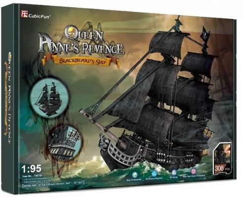 Корабль Cubicfun Корабль Месть королевы Анны черный 308 шт cubicfun 3d пазл cubicfun корабль месть королевы анны