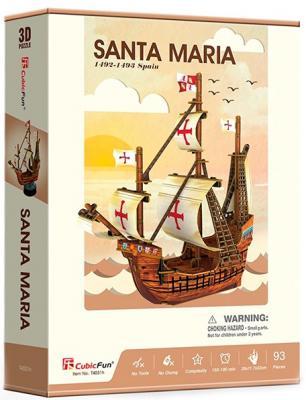 Корабль Cubicfun Корабль Санта Мария коричневый 93 шт сборная модель zvezda корабль санта мария 6510
