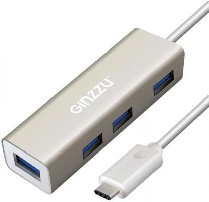 Концентратор USB Type-C GINZZU GR-518UB USB 1.1 USB 2.0 USB 1.0 серый