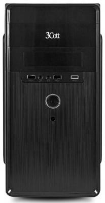 Корпус 3Cott 3C-MATX-S301, Black, mATX, блок питания 450 Вт, выходы USB 2.0x2, Audio+Mic, материал шасси SPCC толщиной 0.5mm 3c matx r833 black