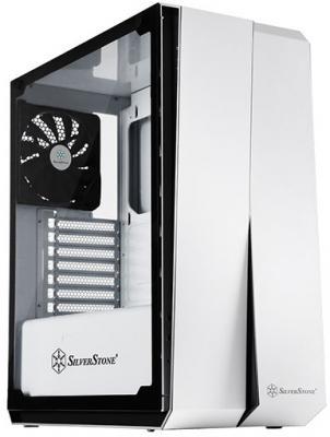 Корпус Silverstone RedLine [SST-RL07W-G] , ATX, без БП (ATX), закаленное стекло, цвет белый корпус silverstone case ss grandia gd06b black sst gd06b