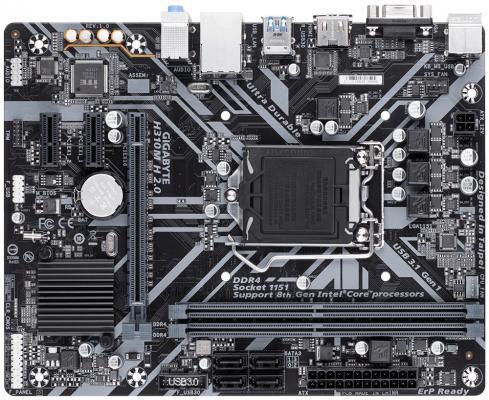 Материнская плата GigaByte H310M H 2.0 Socket 1151 v2 H310 2xDDR4 1xPCI-E 16x 2xPCI-E 1x 4 mATX Retail материнская плата gigabyte h310m s2h socket 1151 v2 h310 2xddr4 1xpci e 16x 2xpci e 1x 4xsataiii matx retail