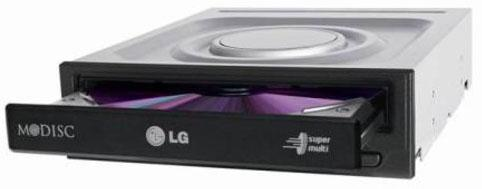 Оптич. накопитель DVD±RW LG (HLDS) GH24NSD6 Black <SATA, Retail> dvd±r ±rw lg gub0n slim 9 5mm black sata