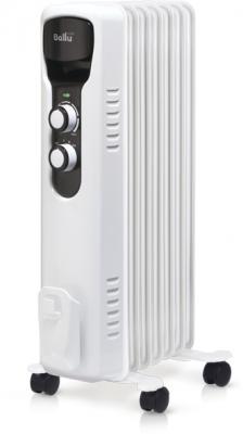 Масляный радиатор BALLU BOH/TR-07 1500 Вт термостат белый чёрный