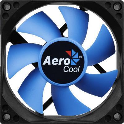 Вентилятор Aerocool Motion 8 , 80х80х25мм, 2000 об/мин, Molex 4-pin, 21,5 CFM, 25,3 дБА, съемная крыльчатка, гидравлический подшипник