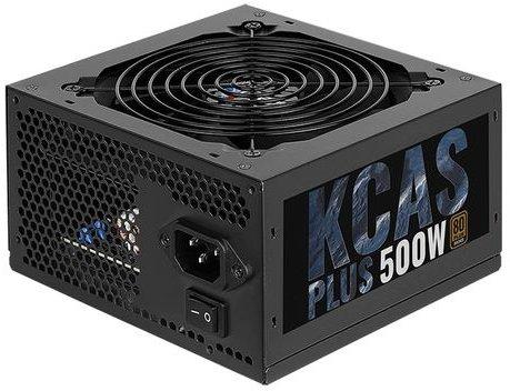 Блок питания Aerocool 500W Retail KCAS PLUS 500W , 80 PLUS Bronze, ATX v2.4, fan 12cm, 2x PCI-E [6+2-Pin], 7x SATA, 4x MOLEX блок питания chieftec блок питания chieftec 500w atx 12v v 2 3 ps 2 type with 12cm fan pfc 80 plus bronze in black color extra long cables blc 500s