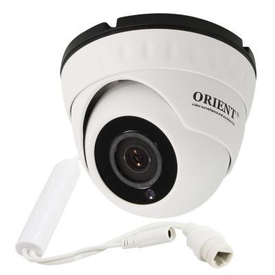Камера IP ORIENT IP-950-OH1AP MIC CMOS 1/4 2.8 мм 1280 x 720 H.264 RJ-45 PoE белый hd 1080p indoor poe dome ip camera vandal proof onvif infrared cctv surveillance security cmos night vision webcam freeshipping