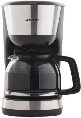 Кофеварка капельная Kitfort КТ-715 1000Вт черный кофеварка kitfort кт 706