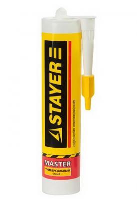 Герметик STAYER MASTER санитарный силиконовый, для помещений с повышенной влажностью, прозрачный, 260мл [41215-2_z01] герметик силиконовый санитарный для помещений с повышенной влажностью зубр прозрачный 280мл