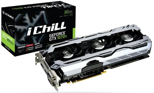 Видеокарта InnoVISION GeForce GTX 1070 Ti ICHILL X3 V2 PCI-E 8192Mb GDDR5 256 Bit Retail (C107T3-3SDN-P5DS) pci e to