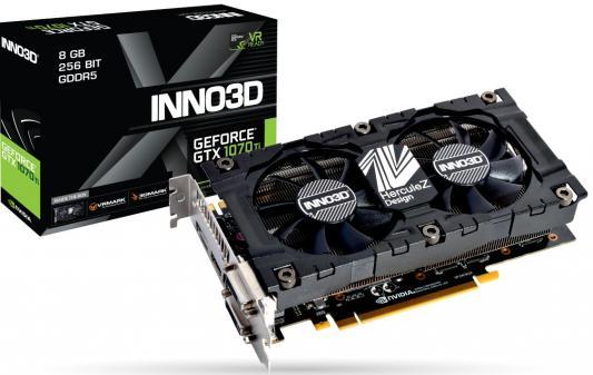 Видеокарта InnoVISION GeForce GTX 1070 Ti X2 V2 PCI-E 8192Mb GDDR5 256 Bit Retail (N107T-2SDN-P5DS) n107t 1ddn p5dn