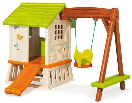 Игровой домик Smoby Сладкие мечты с горкой и качелями