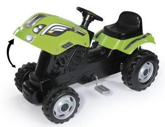 710111 Smoby Трактор педальный XL с прицепом, зеленый, 142х44х54,5см
