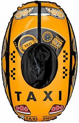 Тюбинг RT Машинка: Taxi Snow до 120 кг желтый ПВХ 6930 тюбинг rt ural bear до 120 кг тентовая ткань рисунок 6966