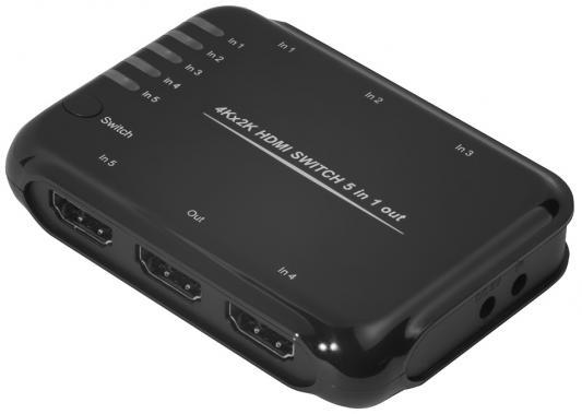 Фото - Greenconnect Переключатель HDMI 5 к 1 серия Greenline сплиттер greenconnect greenline переключатель gl tc06 hdmi 5к1 gl vtc06
