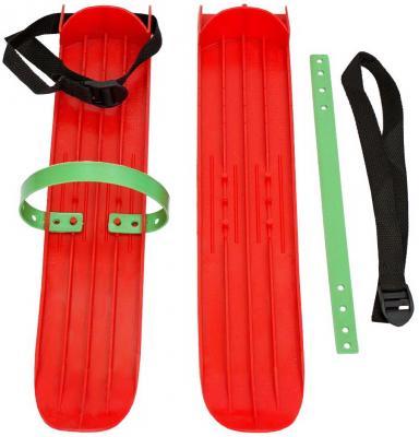 Мини-лыжи большие с ремнями Р-1 (красный)
