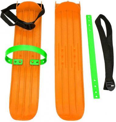 Мини-лыжи большие с ремнями РТ-2 (оранжевый)