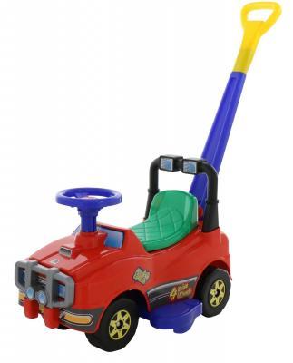 Каталка-машинка Molto Автомобиль Джип-каталка с ручкой №2 красный от 1 года пластик каталка на палочке s s toys вертолет желтый от 1 года пластик