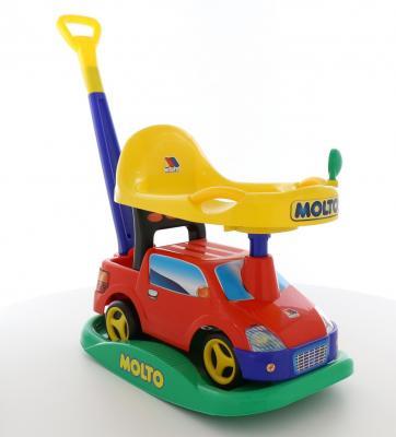 Каталка-машинка Molto Автомобиль-каталка Пикап красный от 1 года пластик каталка на палочке s s toys вертолет желтый от 1 года пластик