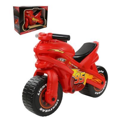 Фото - Каталка-мотоцикл Molto Каталка-мотоцикл Disney/Pixar Тачки красно-черный от 3 лет пластик каталка мотоцикл molto каталка мотоцикл marvel человек паук разноцветный от 3 лет пластик