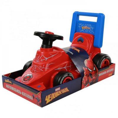 Каталка-машинка Molto Автомобиль-каталка Marvel Человек-паук красно-черный от 3 лет пластик каталка машинка molto автомобиль каталка пикап красный от 1 года пластик