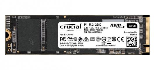 Твердотельный накопитель SSD M.2 500 Gb Crucial CT500P1SSD8 Read 1900Mb/s Write 950Mb/s 3D NAND