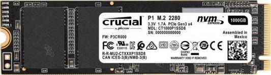 Твердотельный накопитель SSD M.2 1 Tb Crucial CT1000P1SSD8 Read 2000Mb/s Write 1700Mb/s ssd твердотельный накопитель 2 5 480gb crucial micron 5100eco read 540mb s write 520mb s sataiii mtfddak480tby 1ar1zabyy