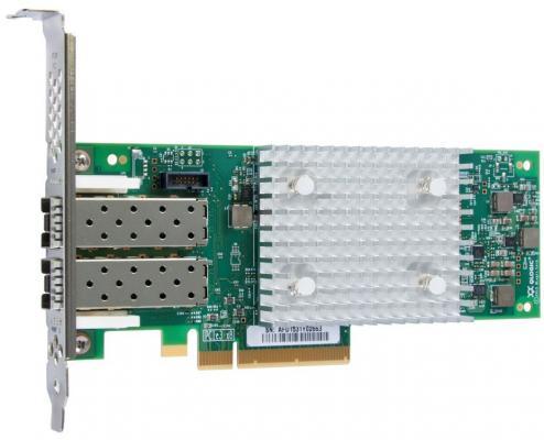 Фото - DELL Controller HBA FC QLogic 2692 Dual Port, 16Gb Fibre Channel, Full Height (analog 403-BBMQ, 406-BBBB, 406-10741, 6J0DD, YH1DK) блок питания dell 450 aebnt hot plug redundant power supply 750w for r540 r640 r740 r740xd t440 t640 r530 r630 r730 r730xd t430 t630 analog 450 adws