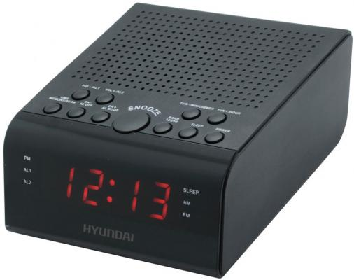 Радиобудильник Hyundai H-RCL180 черный LED подсв:красная часы:цифровые FM радиобудильник philips aj3400 12 черный