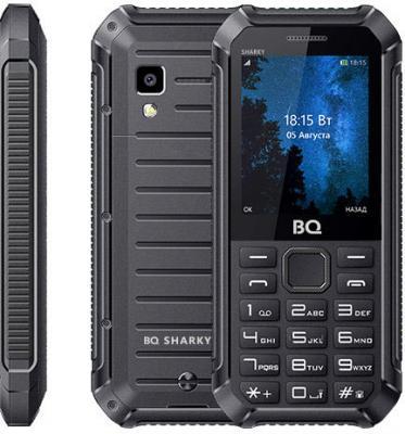 BQ 2434 Sharky Black Мобильный телефон мобильный телефон alcatel one touch 1016d volcano black
