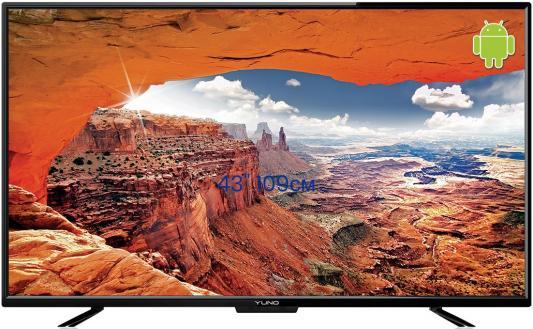 Телевизор 43 Yuno ULX 43FTC245 черный 1920x1080 50 Гц Wi-Fi Smart TV USB VGA HDMI плазменный телевизор 43 haier le43k6000sf черный 1920x1080 50 гц smart tv vga usb