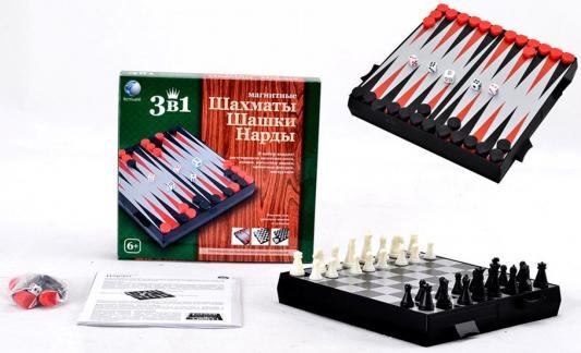 НИ 3 в 1 (магнитные шахматы,шашки,нарды), 18*17*2,5 см настольные игры играем вместе магнитные шахматы 3 в 1 g049 h37005r