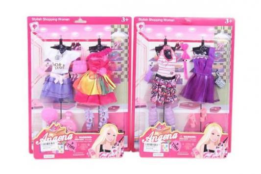 Одежда для кукол Наша Игрушка Наряд Модный для куклы barbie аксессуар для кукол дневной и вечерний наряд fnd47 fkt09