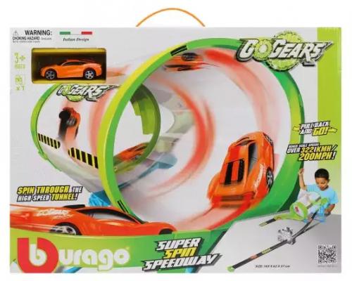 Купить Трек Супер вращение, BBURAGO, Пластик, Для мальчиков, Гаражи, парковки, треки