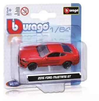 Автомобиль Bburago Машинка металл 1:64 красный bburago машина mercedes benz cl550 металл сборка 1 32 bburago