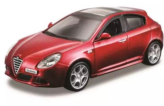 Купить Автомобиль Bburago Alfa Romeo 1:32 красный, Детские модели машинок