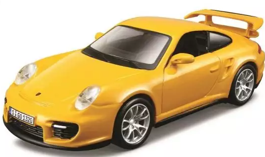 Купить Автомобиль Bburago Porsche 1:32 желтый, Детские модели машинок