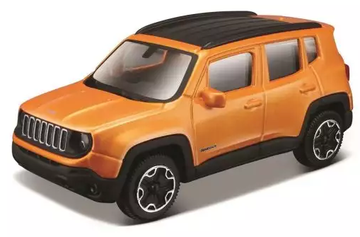 Купить Автомобиль Bburago Jeep 1:43 оранжевый, Детские модели машинок