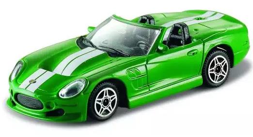 Автомобиль Bburago Машинка металл 1:43 салатовый автомобиль bburago lamborghini 1 43 синий