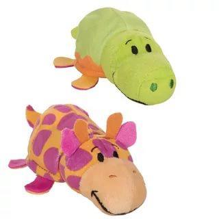 Вывернушка Крокодильчик-Жираф 1toy Крокодильчик-Жираф плюш пластик наполнитель 12 см вывернушка еж черепаха 1toy еж черепаха наполнитель плюш пластик 12 см