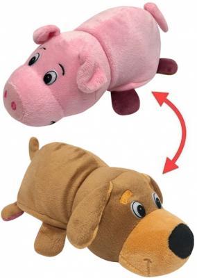 Купить Мягкая игрушка Вывернушка 2в1, Собака-Свинья, 20 см, 1toy, разноцветный, искусственный мех, текстиль, Интерактивные мягкие игрушки