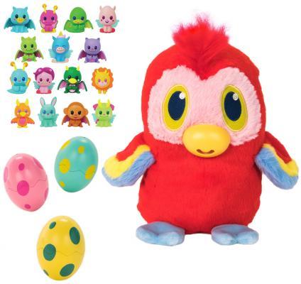 Купить Мягкая игрушка попугай 1toy Дразнюка-несушка. Дразнюгай текстиль пластик плюш наполнитель 20 см, разноцветный, плюш, пластик, текстиль, наполнитель, Интерактивные мягкие игрушки